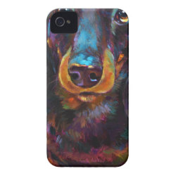 Case-Mate iPhone 4 Barely There Universal Case with Dachshund Phone Cases design
