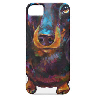 Cute Longhaired Dachshund iPhone SE/5/5s Case
