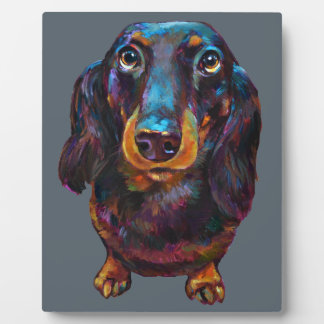 Cute Longhaired Dachshund Plaque