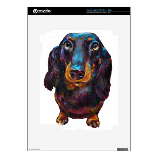 Cute Longhaired Dachshund Skins For The iPad 2