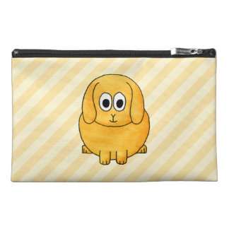 Cute Lop Bunny, with stripe background. Travel Accessory Bag