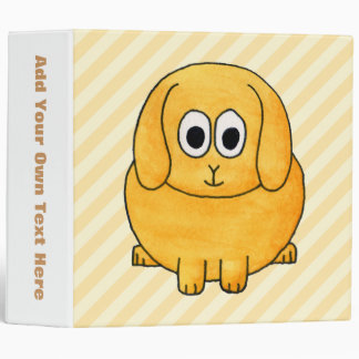 Cute Lop Bunny, with stripe background. Binder