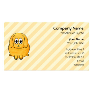 Cute Lop Bunny, with stripe background. Double-Sided Standard Business Cards (Pack Of 100)