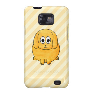 Cute Lop Bunny, with stripe background. Samsung Galaxy SII Covers