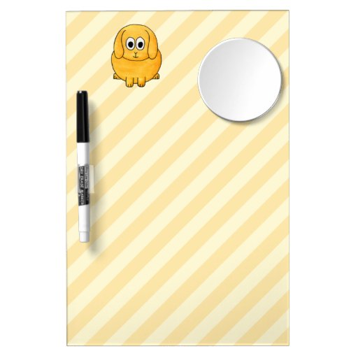 Cute Lop Bunny, with stripe background. Dry-Erase Board