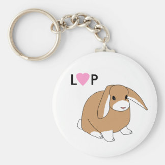 Cute Lop Rabbit Keychain