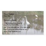 Cute Louisiana Herons Fishing In Lake Near Morgan Business Card