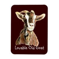 Cute Lovable Old Goat, Farm Animal Humor Magnet