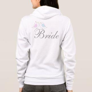 Cute love birds BRIDE Hoodie