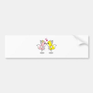 Cute Love Birds Bumper Sticker