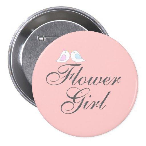 Cute love birds Flower Girl Pins