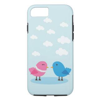 Cute love birds in the sky iPhone 7, Tough iPhone 7 Case