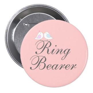 Cute love birds Ring Bearer Pinback Button
