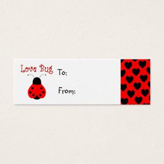 Cute Love Bug Heart Ladybug Gift Tag