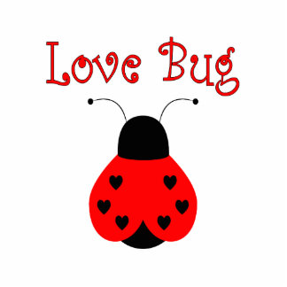 Cute Love Bug Heart Ladybug Ornament