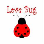Cute Love Bug Heart Ladybug Ornament Photo Sculpture Ornament
