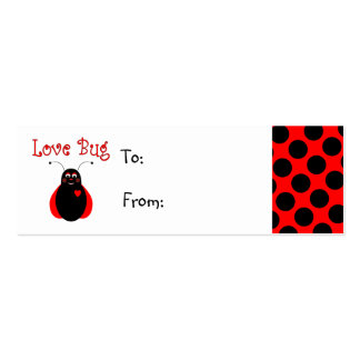 Cute Love Bug Ladybug Gift Tag Business Card Templates