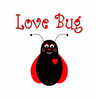 Cute Love Bug Ladybug Ornament Photo Cutout
