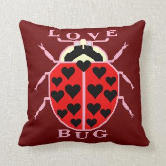 Cute Love Bug Valentine's Day Ladybug Throw Pillow