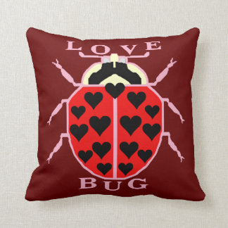 Cute Love Bug Valentine's Day Ladybug Throw Pillow