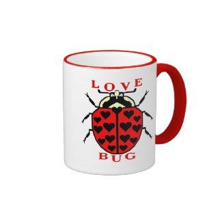 Cute Love Bug Valentine's Ladybug Coffee Mugs