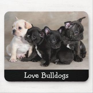 Cute Love Bulldog Puppy Dogs  Mousepad