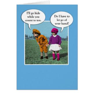 Cute love card: Hide and Seek Greeting Card