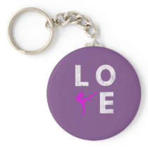 Cute LOVE Dance for Dancers and Ballet Lovers Keychain