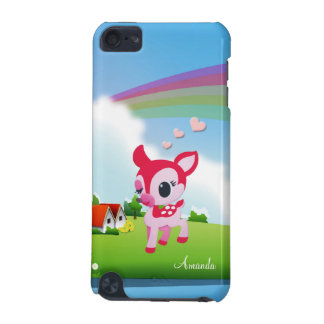 Cute Love Deer Bambi with Rainbow Country Scene iPod Touch 5G Covers