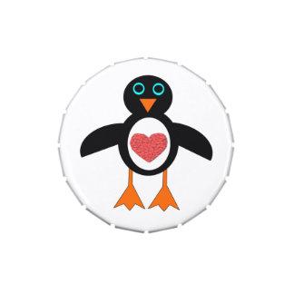 Cute Love Heart Penguin Candy Tins