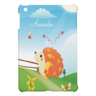 Cute Love Hedgehog with Butterfly Sunny Day Cover For The iPad Mini