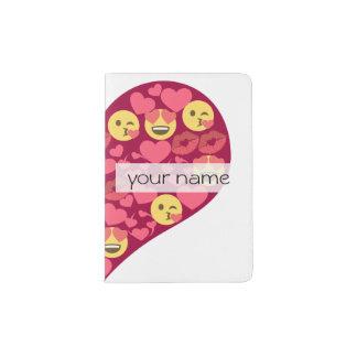 Cute Love Kiss Lips Emoji Heart Passport Holder