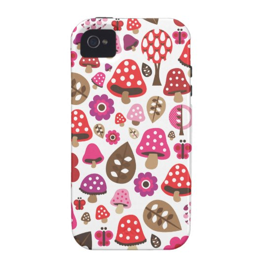 Cute love ladybug polka dot heart pattern Case-Mate iPhone 4 case