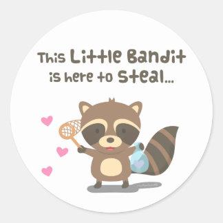 Cute Love Little Masked Bandit Raccoon Classic Round Sticker