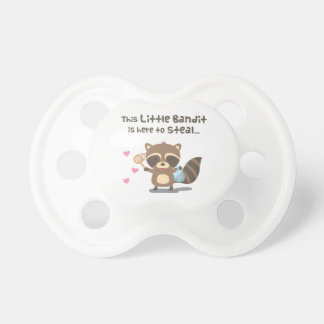 Cute Love Masked Bandit Raccoon For Babies Pacifier