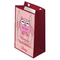 Cute Love Message Owl Custom Gift Bag