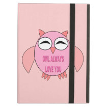 Cute Love Message Owl iPad Case
