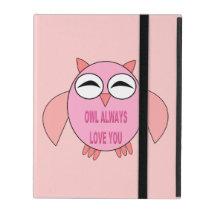Cute Love Message Owl iPad Case