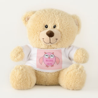 Cute Love Message Owl Teddy Bear