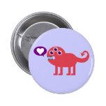 Cute Love Monster 2 Inch Round Button