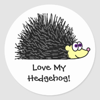 Cute Love My Hedgehog Stickers / Label