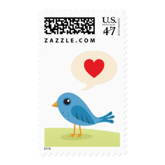 Cute love or Valentines day postage stamp