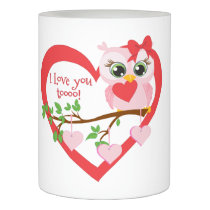Cute Love Owl Flameless Candle