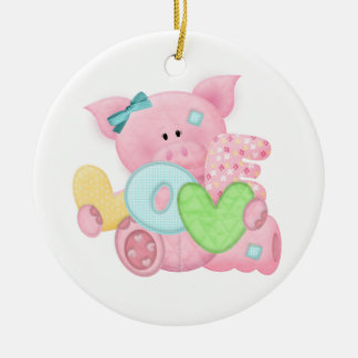 Cute Love Pig Ornaments