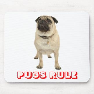 Cute Love Pug Rule Puppy Dog Mousepad