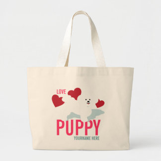 Cute Love Puppy Tote Bag