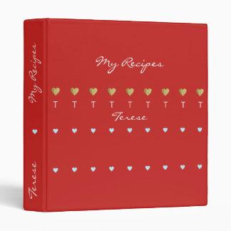 cute love recipes red binder