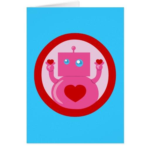 cute Robot Love Wallpaper : cute Love Robot card Zazzle