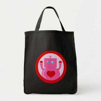 Cute Love Robot Tote Bag
