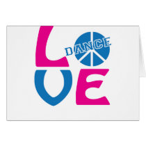 Cute Love to Dance Apparel and Gifts Card